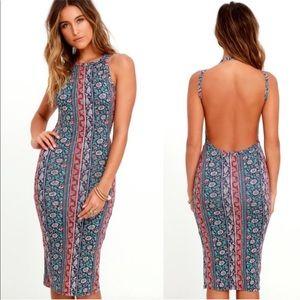 Lulu's | Kiss the Sky Floral Print Backless Dress